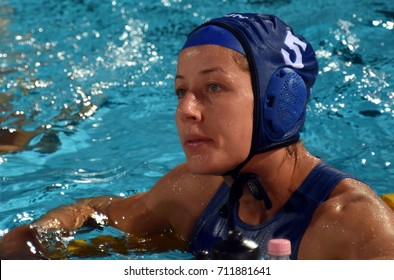 Budapest, Hungary - Jul 16, 2017.  SZUCS Gabriella (HUN) in the preliminary round. FINA Waterpolo World Championship was held in Alfred Hajos Swimming Centre in 2017.