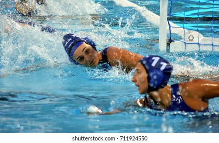 Budapest, Hungary - Jul 16, 2017. SZILAGYI Dorottya (HUN) in the preliminary round. FINA Waterpolo World Championship was held in Alfred Hajos Swimming Centre in 2017.