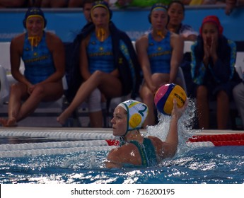 Budapest, Hungary - Jul 16, 2017. GOFERS Keesja (AUS) australian waterpolo player in the preliminary round. FINA Waterpolo World Championship was held in Alfred Hajos Swimming Centre in 2017.