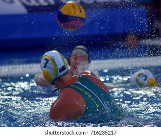 Budapest, Hungary - Jul 16, 2017. WEBSTER Rowie (AUS) captain of the Australia women waterpolo team. FINA Waterpolo World Championship was held in Alfred Hajos Swimming Centre in 2017.