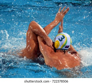 Budapest, Hungary - Jul 17, 2017.  FORD George, australian waterpolo player. FINA Waterpolo World Championship was held in Alfred Hajos Swimming Centre in 2017.