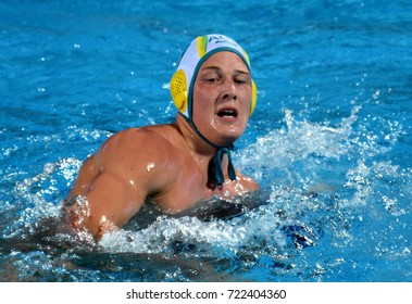 Budapest, Hungary - Jul 17, 2017. FORD Andrew, australian waterpolo player. FINA Waterpolo World Championship was held in Alfred Hajos Swimming Centre in 2017.