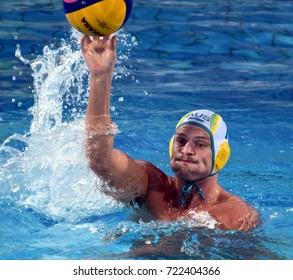 Budapest, Hungary - Jul 17, 2017. GILCHRIST Jarrod, australian waterpolo player. FINA Waterpolo World Championship was held in Alfred Hajos Swimming Centre in 2017.