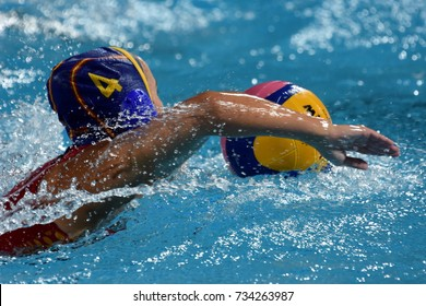 Budapest, Hungary - Jul 20, 2017. ORTIZ MUNOZ Beatriz (ESP) player of the Spanish team in the preliminary round. FINA Waterpolo World Championship was held in Alfred Hajos Swimming Centre in 2017.