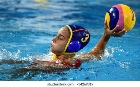Budapest, Hungary - Jul 20, 2017. ESPAR LLAQUET Anna (ESP) player of the Spanish team in the preliminary round. FINA Waterpolo World Championship was held in Alfred Hajos Swimming Centre in 2017.