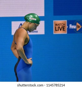 Budapest, Hungary - Jul 25, 2017. Competitive swimmer MEILUTYTE Ruta (LTU) in the 100m breaststroke Final. FINA Swimming World Championship was held in Duna Arena.