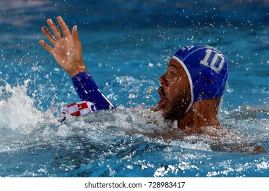 Budapest, Hungary - Jul 25, 2017. BODEGAS Michael Alexandre, player of the Italy team. FINA Waterpolo World Championship was held in Alfred Hajos Swimming Centre in 2017.