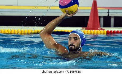 Budapest, Hungary - Jul 25, 2017. RENZUTO IODICE Vincenzo, player of the Italy team. FINA Waterpolo World Championship was held in Alfred Hajos Swimming Centre in 2017.