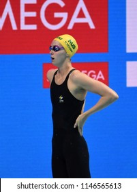 Budapest, Hungary - Jul 26, 2017. Competitive swimmer MCKEON Emma (AUS) in the 200m Freestyle Final. FINA Swimming World Championship was held in Duna Arena.