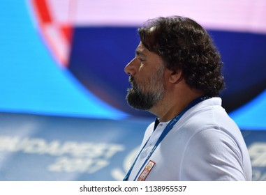 Budapest, Hungary - Jul 27, 2017. SAVIC Dejan, head coach of Serbia. FINA Waterpolo World Championship, Semifinal.