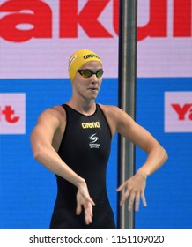 Budapest, Hungary - Jul 27, 2017. Competitive swimmer CAMPBELL Bronte (AUS) in the 100m Freestyle Semifinal. FINA Swimming World Championship was held in Duna Arena.