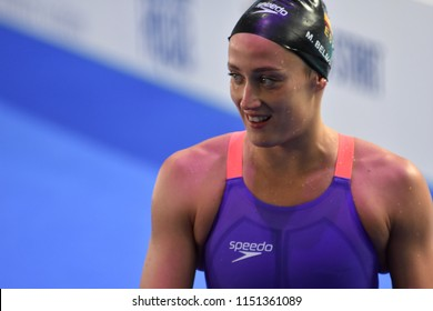 Budapest, Hungary - Jul 27, 2017. Competitive swimmer BELMONTE Mireia (ESP) after the 200m Butterfly Final. FINA Swimming World Championship was held in Duna Arena.