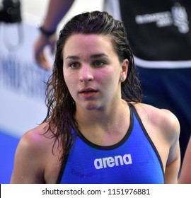 Budapest, Hungary - Jul 27, 2017. KESELY Ajna (HUN) in the Women 4x200m Freestyle Final. FINA Swimming World Championship was held in Duna Arena.