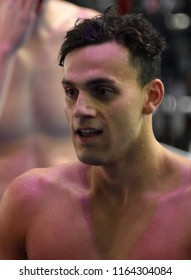 Budapest, Hungary - Jul 28, 2017. GUY James (GBR) after the Men 4x200m Freestyle Final. FINA Swimming World Championship in Duna Arena.