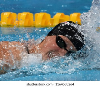 Budapest, Hungary - Jul 29, 2017. Competitive swimmer LEDECKY Katie (USA) in the 800m Freestyle Final. FINA Swimming World Championship was held in Duna Arena.