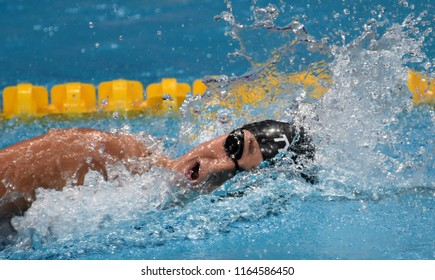 Budapest, Hungary - Jul 29, 2017. Competitive swimmer SMITH Leah (USA) in the 800m Freestyle Final. FINA Swimming World Championship was held in Duna Arena.