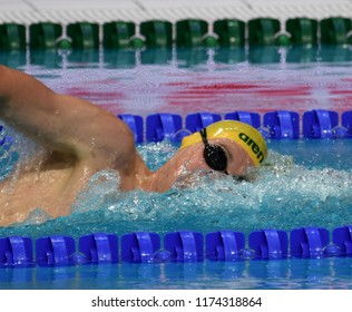 Budapest, Hungary - Jul 30, 2017. Competitive swimmer HORTON Mack (AUS) in the 1500m Freestyle Final. FINA Swimming World Championship was held in Duna Arena.