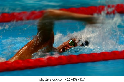 Budapest, Hungary - Jul 30, 2017. Competitive swimmer PALTRINIERI Gregorio (ITA) in the 1500m Freestyle Final. FINA Swimming World Championship was held in Duna Arena.