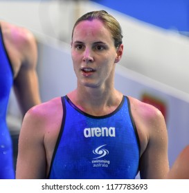 Budapest, Hungary - Jul 30, 2017. Competitive swimmer CAMPBELL Bronte (AUS) in the 50m Freestyle Final. FINA Swimming World Championship was held in Duna Arena.