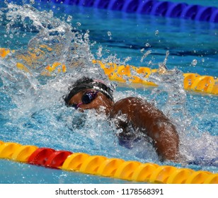 Budapest, Hungary - Jul 30, 2017. MANUEL Simone (USA) in the Women 4x100m Medley Relay Final. FINA Swimming World Championship was held in Duna Arena.