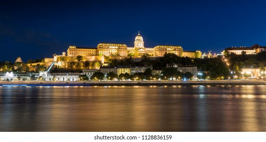 Budapest, Hungary. July 2018.The panoramic view of the castle of Budapest, Hungary