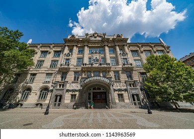 BUDAPEST, HUNGARY - July 24, 2016 : Building of The Liszt Academy of Music. It is a concert hall and music conservatory in Budapest, Hungary, founded on November 14, 1875.