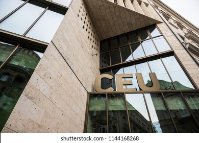 BUDAPEST, HUNGARY - JULY 27, 2018: Central European University building or CEU in Budapest on 27 July 2018