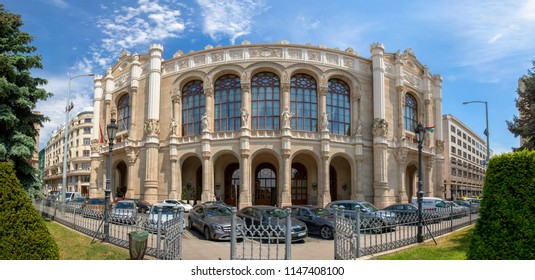 Budapest, Hungary - Jun 12, 2018: Vigado Concert hall of Pest in the Hungarian capital Budapest. Fully restored in her glory opened again.