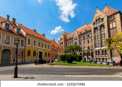 Budapest Hungary Jun 17 2018: Historical Castle District in Budapest. It is listed by UNESCO as a World Heritage site, was first completed in 1265. The Castle District is full of history.