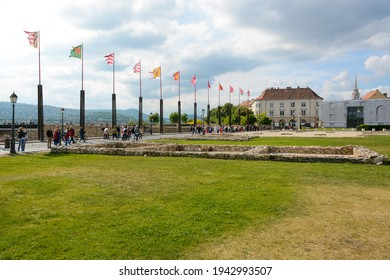 Budapest, Hungary - June 20, 2019: Court Theatre of Buda