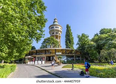 Budapest, Hungary. June 23, 2016: Margaret Island amphitheater in summer