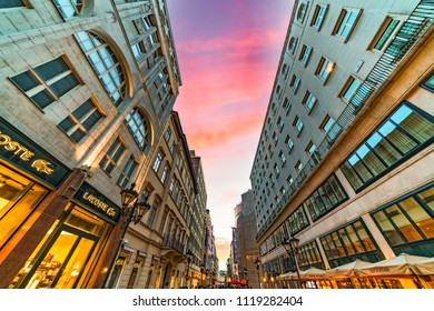 Budapest, Hungary - June 23, 2018: Fashion street located in the heart of Budapest, Fashion Street is Middle-Eastern Europe's most prestigious shopping and lifestyle destination.