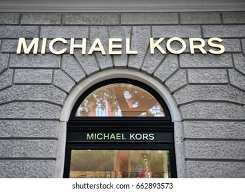 BUDAPEST, HUNGARY - JUNE 4: Facade of Michael Kors flagship store in the street of Budapest on June 4, 2016.
