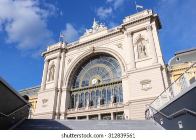 Budapest, Hungary - Keleti railway station building in Pest district.
