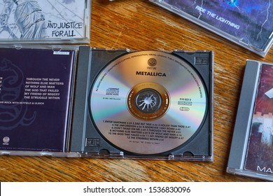 BUDAPEST, HUNGARY - MARCH 21, 2018: Metallica The Black Album CD release, one of the most classic metal albums sold in over 25 million copies