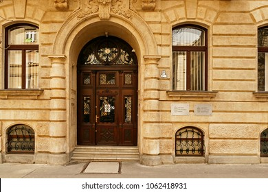 Budapest, Hungary - March 24. 2018: Building of the National Election Office where the National Election Committee resides. They have major role in organizing parliamentary elections.