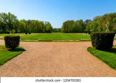 Budapest Hungary  Margaret Island. Manicured parks, flower beds and friendly open space awaiting for visitors.