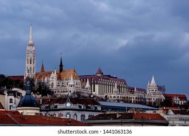 Budapest Hungary Matthias late-gothic roman catholic church