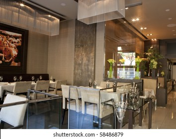 BUDAPEST, HUNGARY - MAY 07: Interior of the first class Costes Restaurant, awarded with the Michelin Star rating by Michelin inspectors first time in Hungary on 07 May, 2010 in Budapest, Hungary.