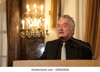 BUDAPEST, HUNGARY - MAY 11: Prof. Hans Ulricht Gumbrecht from the Stanford University speaks on the ceremonial meeting of the senat of ELTE University on May 11, 2012.