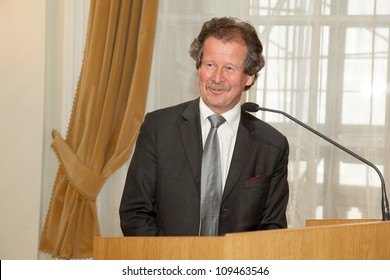 BUDAPEST, HUNGARY - MAY 11: Prof. Manfred Nowak from the Vienna University speaks on the ceremonial meeting of the senat of ELTE University on May 11, 2012.