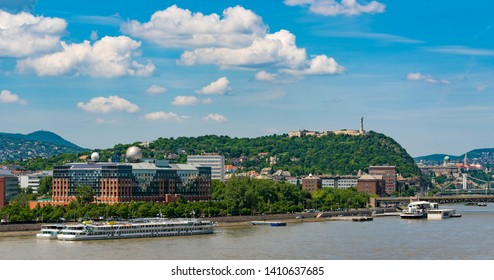 Budapest, Hungary - May 20, 2019: View of Gellert hill in Budapest, Hungary.