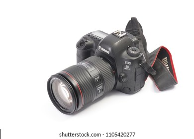 BUDAPEST, HUNGARY - NOVEMBER 30, 2017: Canon EOS 5D mark IV with 24-105mm f4L IS zoom lens attached