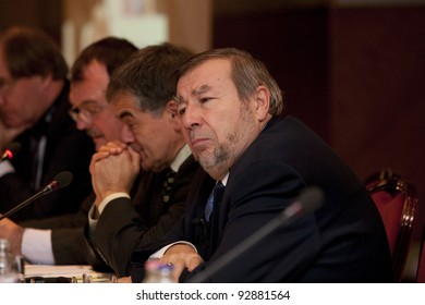 BUDAPEST, HUNGARY - NOVEMBER 30: Arpad Kovacs, former president of State Audit Office of Hungary on the meeting of Europeen State Audit Officers on November 30, 2009 in Budapest, Hungary.