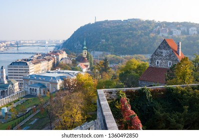 Budapest, Hungary - November 5, 2015: European landmarks. Panoramic view of Budapest with Dunai, old and modern buildings in autumn, Hungary