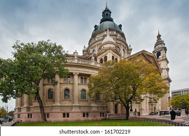 BUDAPEST, HUNGARY - OCT 19: St. Stephen's Basilica also known as Budapest Cathedral on October 19, 2013 in Budapest, Hungary. It is the largest church in Budapest.