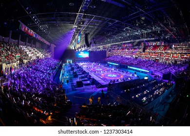 Budapest Hungary Oct 20 2018: The Opening Ceremony of the  World Wrestling Championship, where the best of the best meets.
