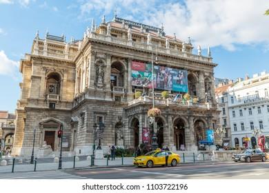 Budapest, Hungary, Oct 7, 2017 - Hungarian State Opera House