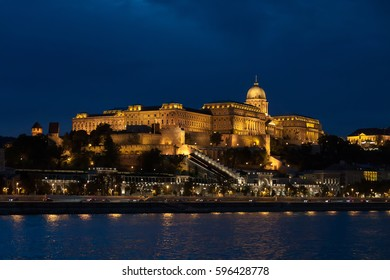 BUDAPEST HUNGARY -SEP 20: Night panorama of Buddha castle and bastion of fishermen on September 20, 2016 in Budapest.Possibly the most iconic and known building in the city