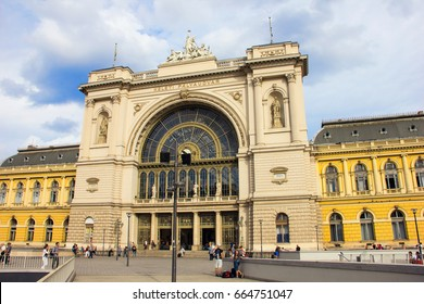 BUDAPEST, HUNGARY, SEPTEMBER, 2016 - Train station in Budapest, capital city of Hungary